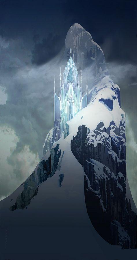 Le ch teau de glace d 39 elsa la reine des neiges pinterest reine des neiges disney et - Chateau de glace reine des neiges ...