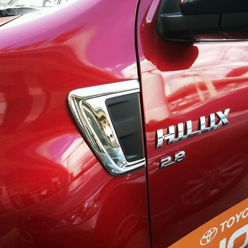 2016 For Toyota Hilux Revo Accessories Chrome Decorative Trim Hood For Toyota Hilux Decorative Trim Toyota