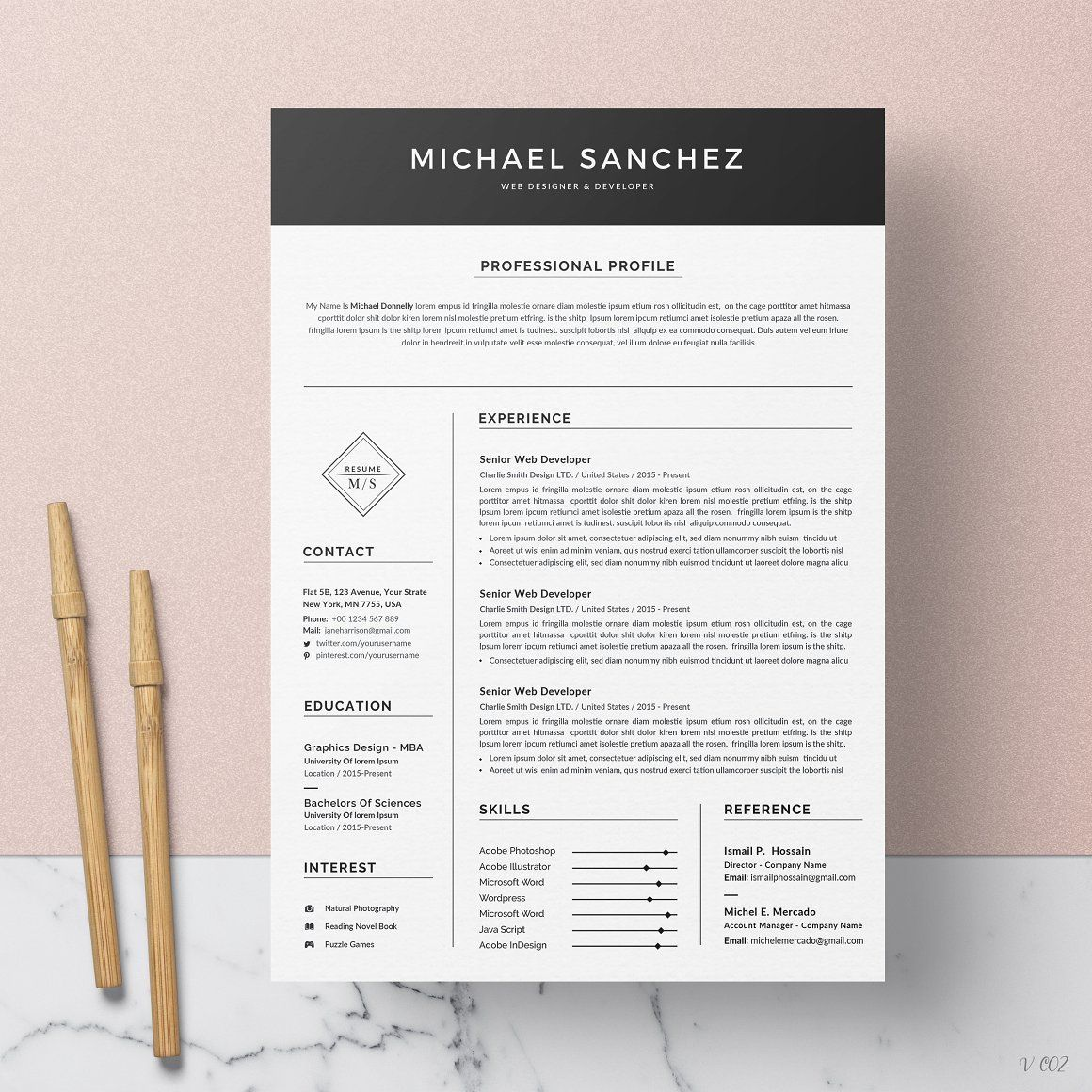 Word Resume/CV in 2020 Resume words, Resume cv, Resume