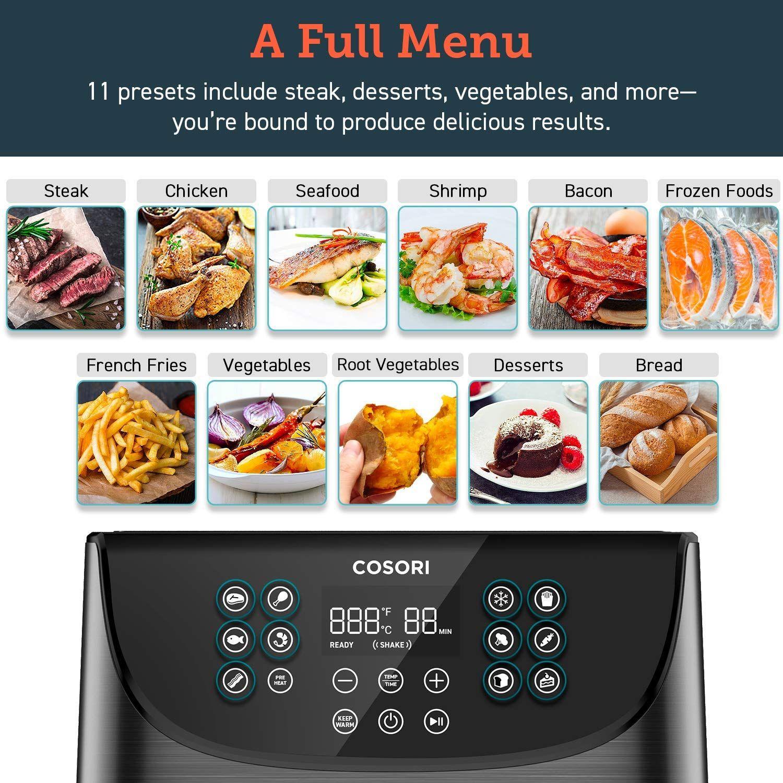 COSORI Air Fryer(100 Recipes), 5.8Qt Electric Hot Air