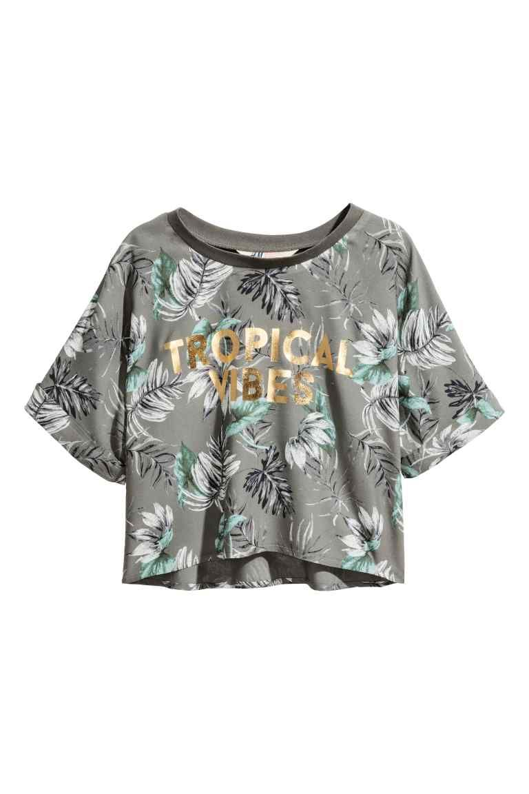 2f7c9e60aa68f Cropped top - Khaki green - Kids