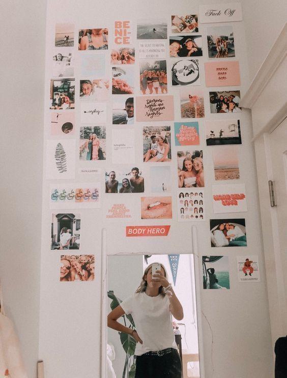 Einfache Möglichkeit Wandkunst und Fotocollagen zu erstellen #wallcollage