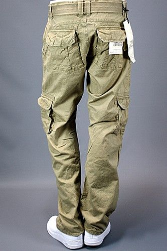 Jordan Craig Utility Cargo Pants Slim Fit Khaki | Men's Clothing ...