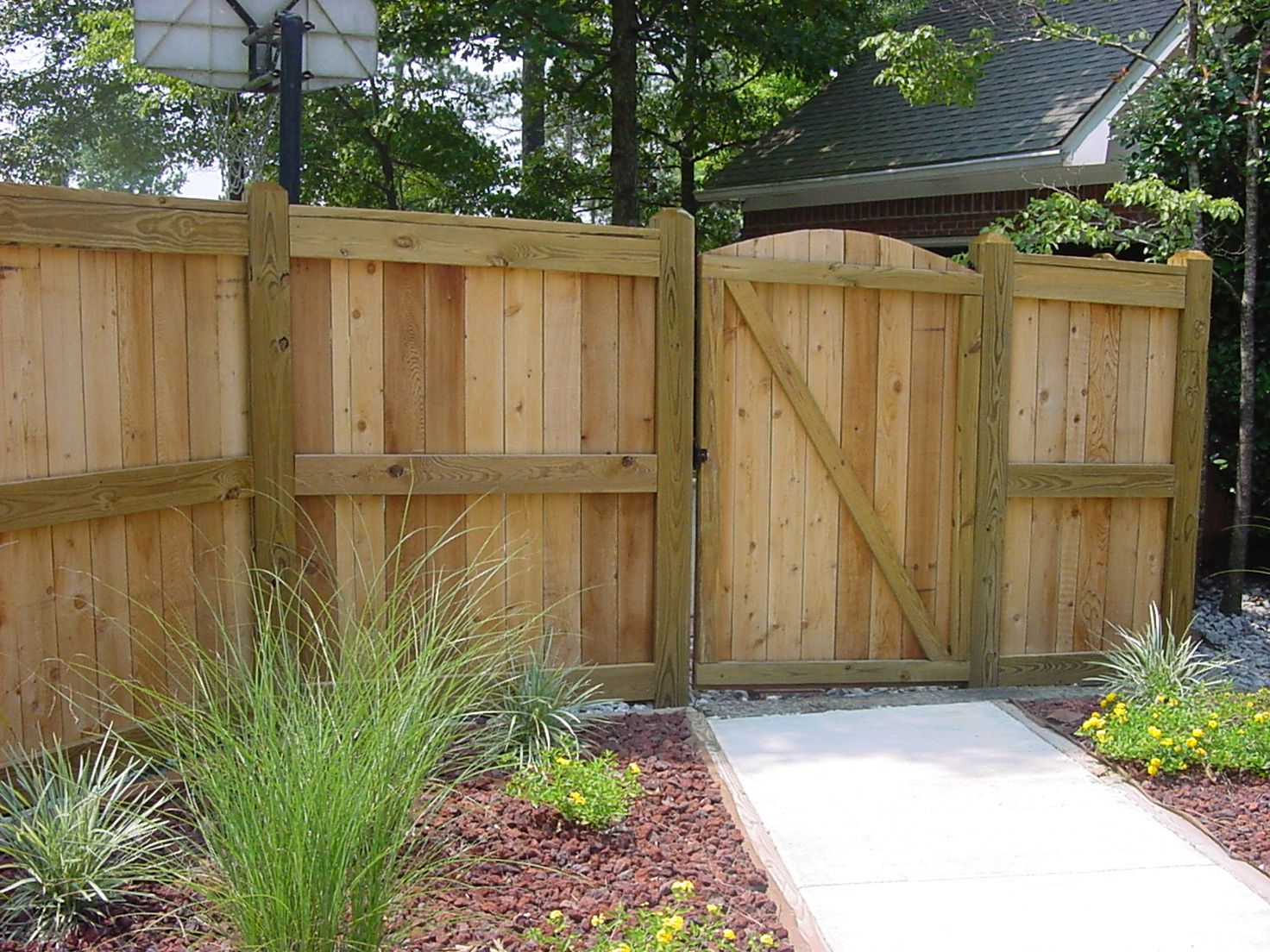 Privacy Fence Post Dog Eared Quot Cypress Fence W French
