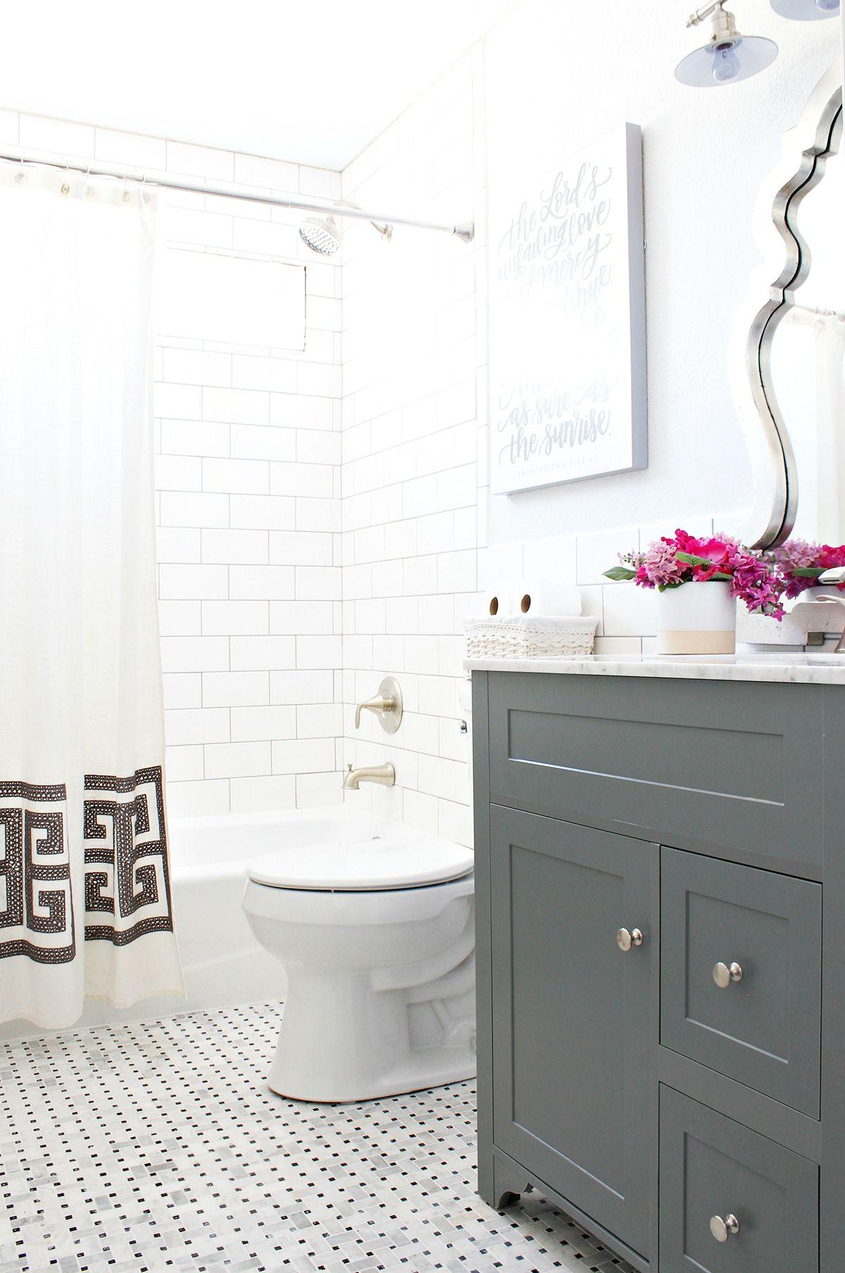 Kids Bathroom Reno Reveal + Pfister faucet review | Classy Clutter | Bloglovin'
