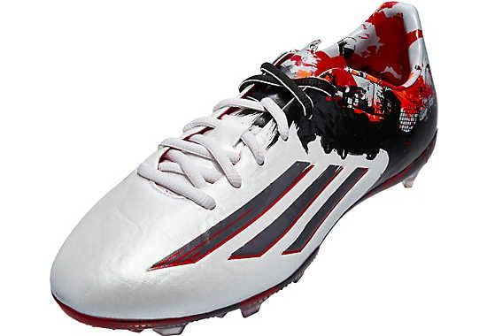 Adidas Youth Messi 10 1 Fg Soccer Cleats White And Grey Get It At Soccerpro Com Now Soccer Shoes Adidas Soccer Shoes Youth Soccer Shoes