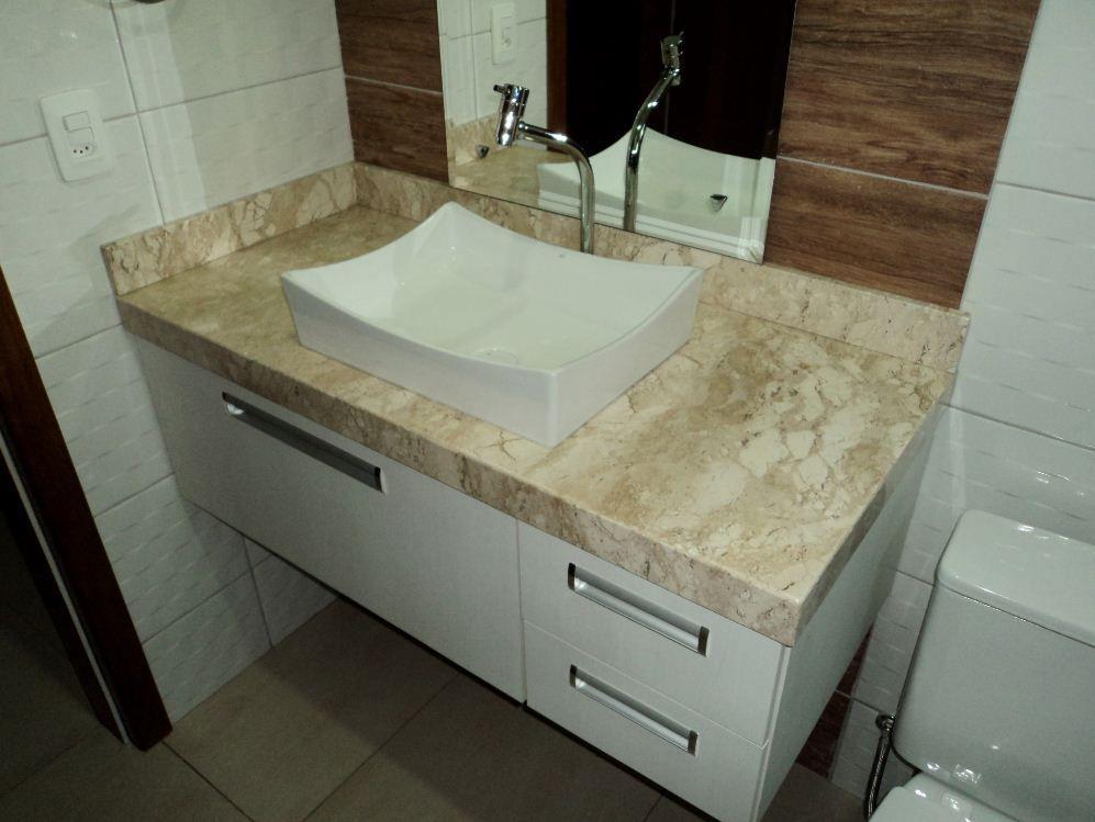 pedra bege bahia  Pesquisa Google  banheiro  Pinterest  Melhores ideias s -> Como Assentar Pia De Granito No Banheiro