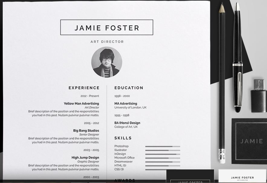 ResumeCv  Jamie By Bilmaw Creative On Creativemarket Http