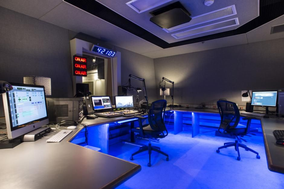 Radio and Podcast Control Room, Media + Production | Small ...