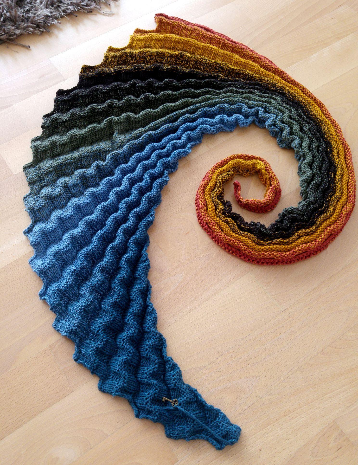 Drachenschwanz Nautilus Nach Anleitung Von Tuch Beatrice