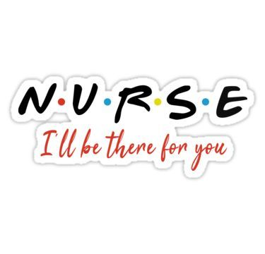 'NURSE I WILL BE THERE shirt,white t-shirt gift for nurses' Sticker by ArtOfHappiness