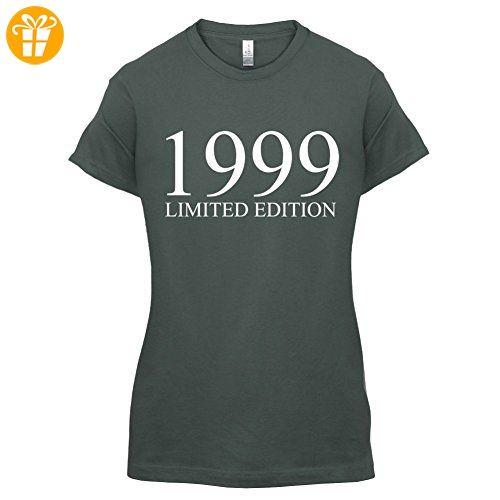 1999 Limierte Auflage / Limited Edition - 18. Geburtstag - Damen T-Shirt -  Dunkelgrau - XXL