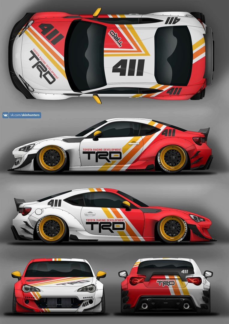 Gt86 trd car folie e36 racing car design porsche 944 car paint
