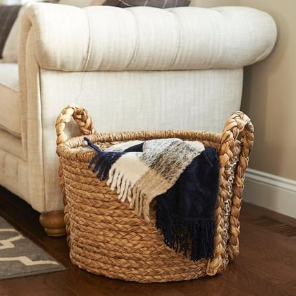 Pillows · Braided Basket Delight! Thick, Woven Handles And Horizontal  Braiding Give This Spacious Storage Basket
