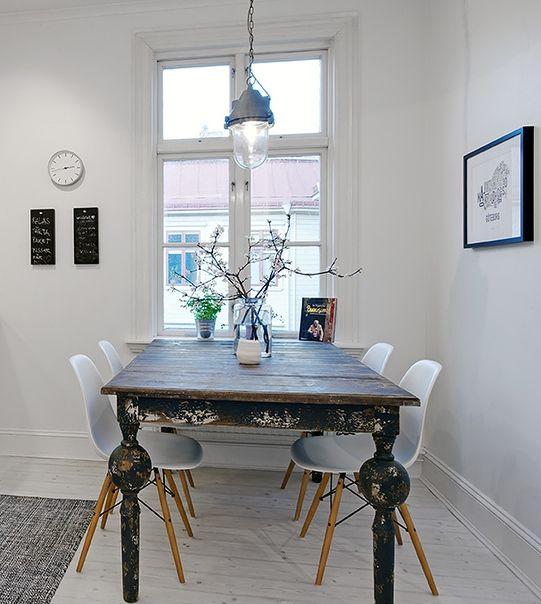 mesa para sillas tower wood blancas