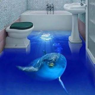 ️ 37 Amazing 3D Bathroom Floor Ideas That Can Deceive Your ...