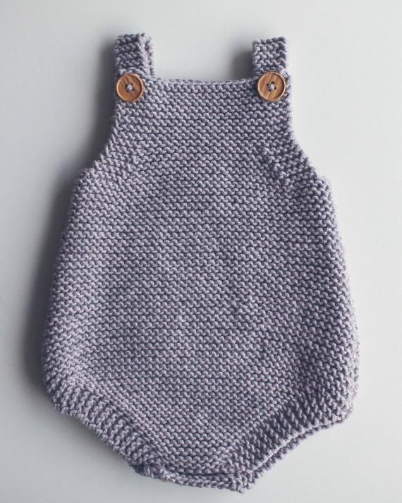 Photo of Baby All-In-One Knitting Pattern – Eve Romper PDF Knitting Pattern – Instant Download – Beginner Pattern