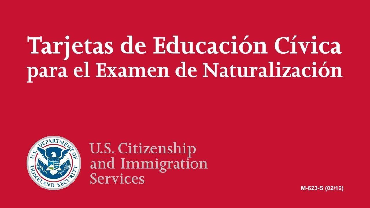 Examen de Ciudadanía Americana 2016 (Sólo en Español)