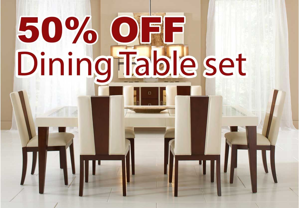 Rooms To Go Kitchen Tables 50 Percent Off Sofia Vergara Savona Ivory 5 Pc Rectangle Dining