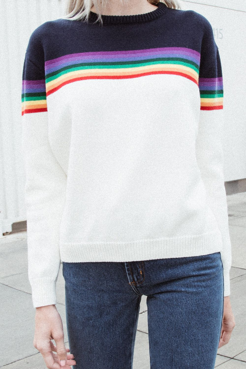Bronx Rainbow Sweater - Pullovers - Sweaters - Clothing  be76ca748