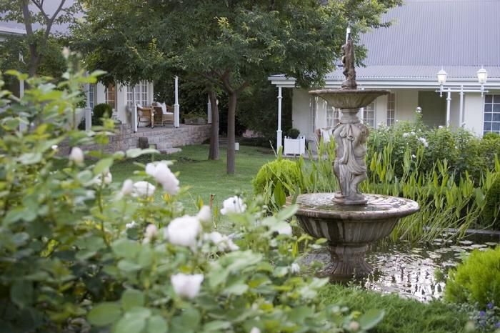 Rosenhof Country House, Oudtshoorn. This country house has an old English rose garden appeal.