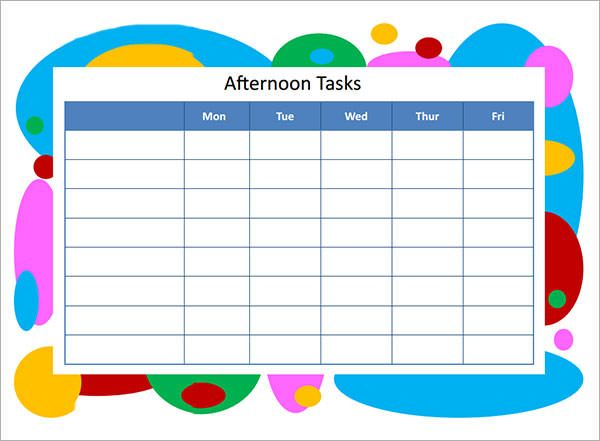 Task List Templates  Word Excel  Pdf Templates  Www