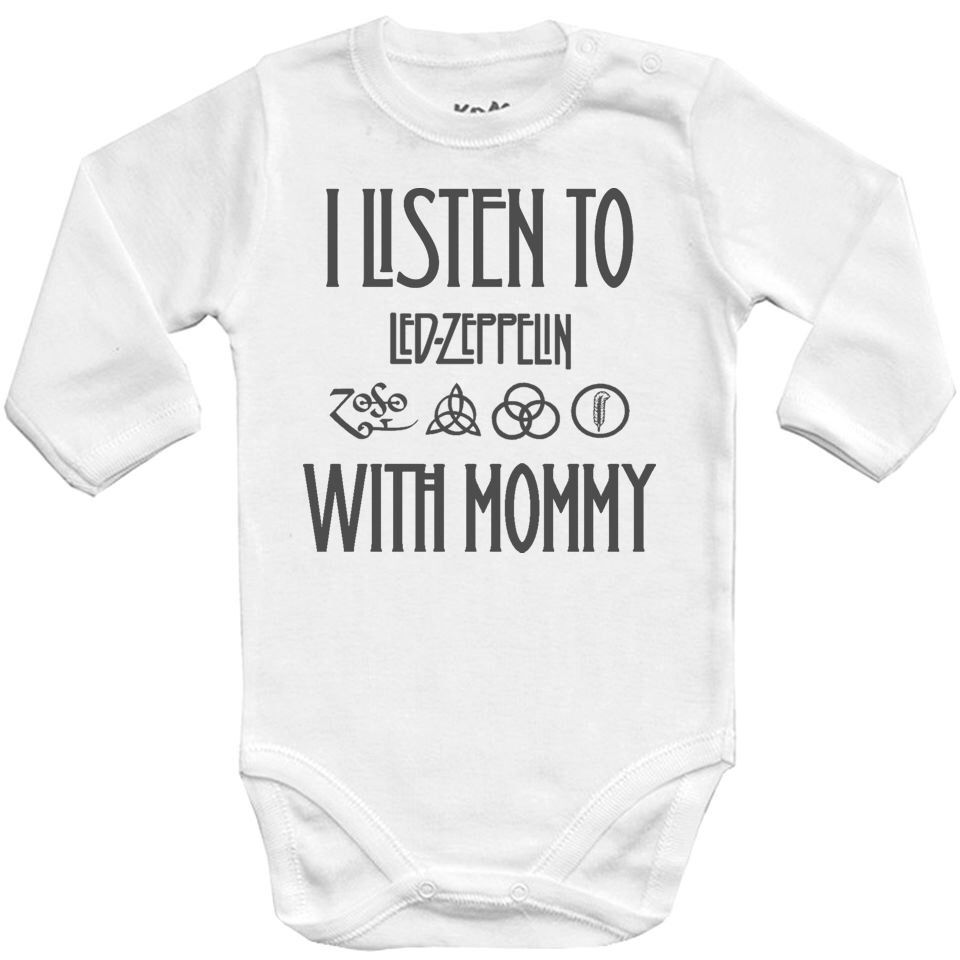 Baby bodysuit I LISTEN to LED ZEPPELIN with DAD kids One Piece jersey