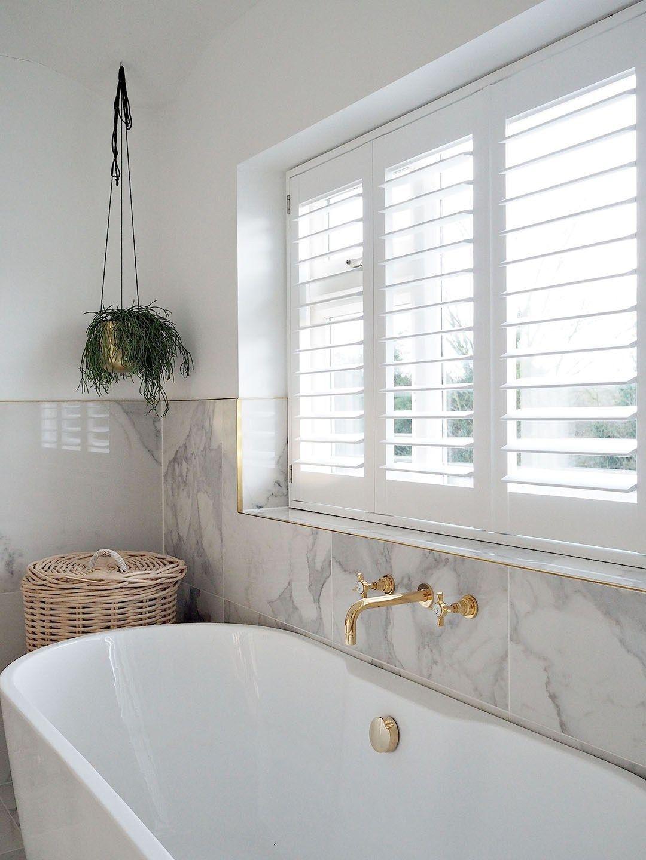 White Diy Window Shutters Bathroom, Bathroom Shutter Blinds