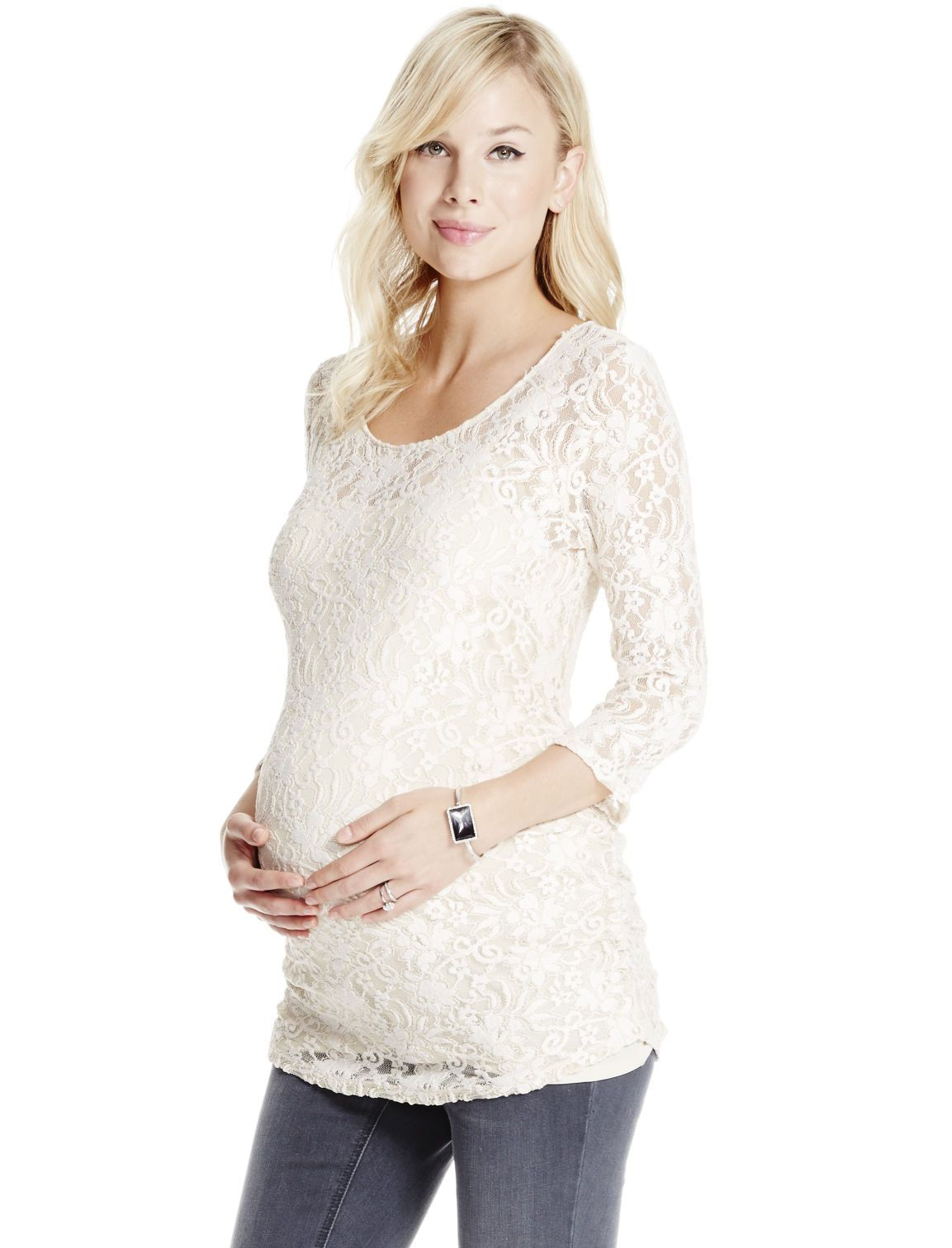 Dressed up floral patterned lace maternity top by jessica dressed up floral patterned lace maternity top by jessica simpson available at destination maternity ombrellifo Gallery