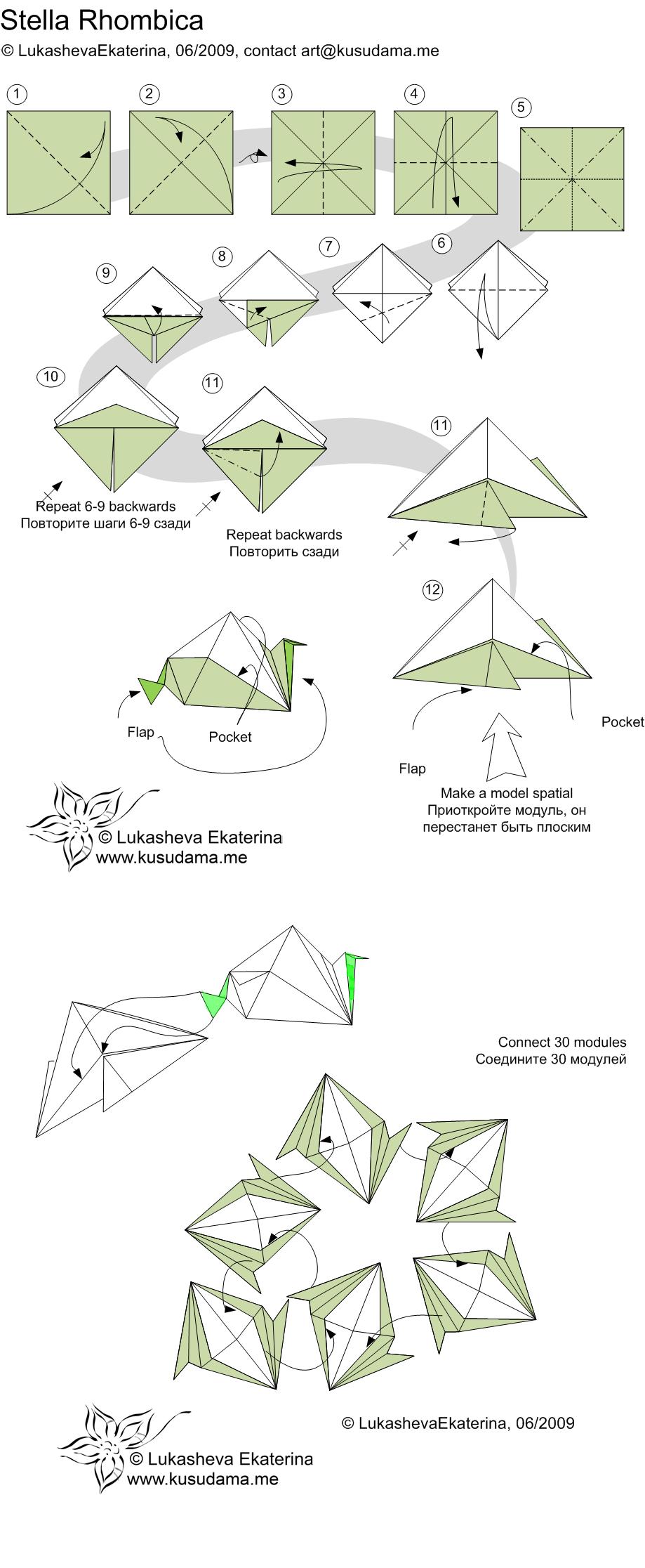 Pin By Jennifer Moreno On Origami Pinterest Modular Diagram Instructions For Stella Rhombica Kusudama