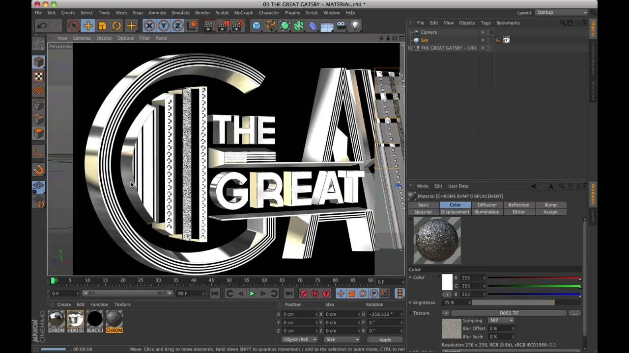 Tutorial Hollywood Movie Titles Series The Great Gatsby Digital Art Tutorial Tutorial Movie Titles