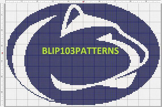 Penn State Logo Cross Stitch Pattern By Blip103patterns On Etsy