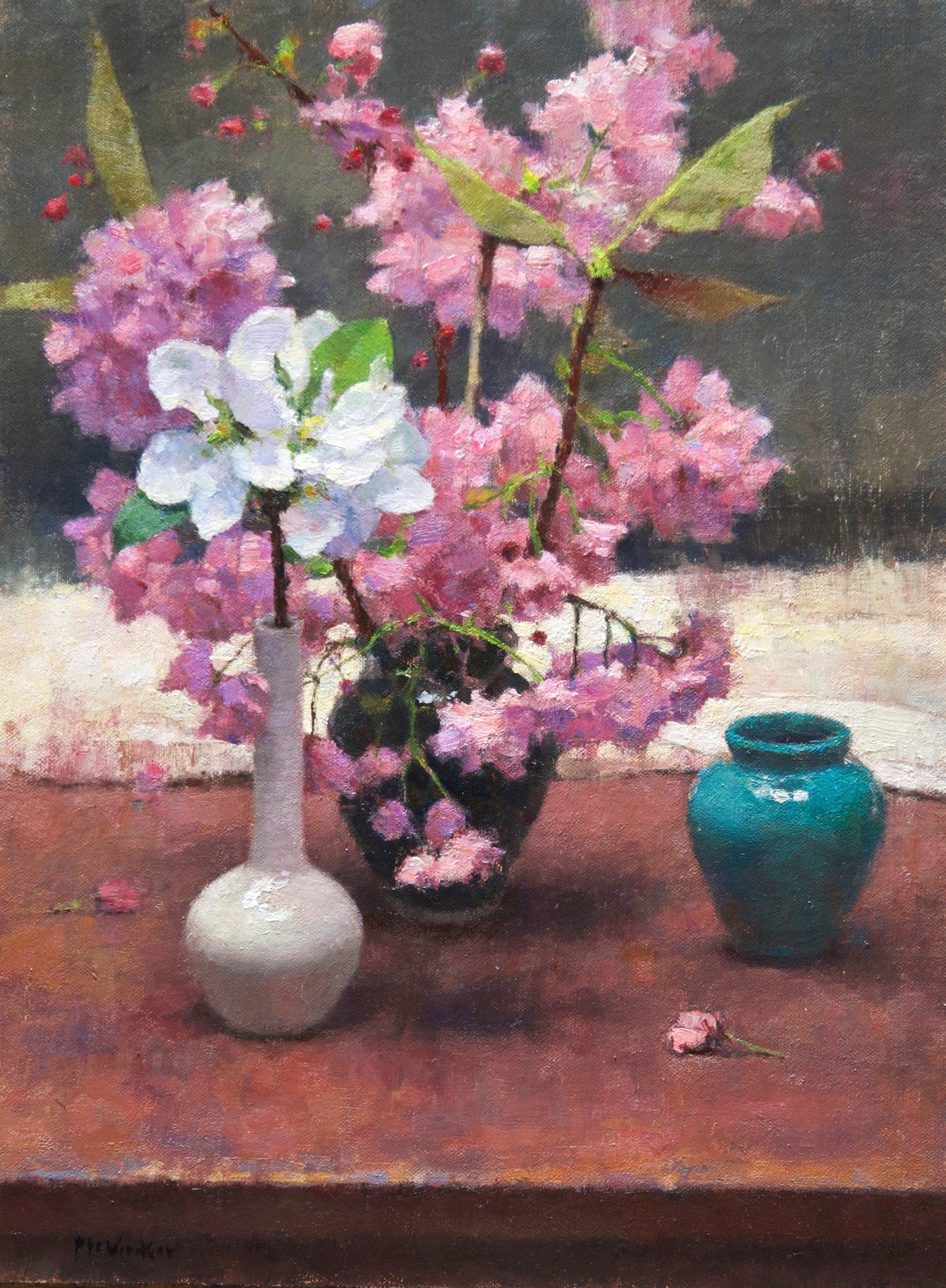 Jim McVicker 'Apple and Cherry Blossoms' 16x12 | Jim ...