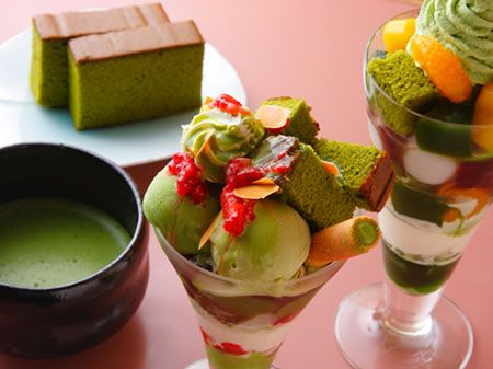 Tsujiri, Japanese green tea ice parfait