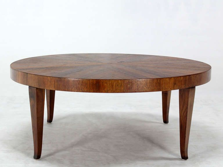 "Round Walnut Mid-Century Modern Coffee Center Table by Widdicomb, $2,600 17""t x 42"" diam"