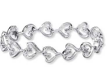 Diamond Heart Bracelet From Kay Jewelers For 119 99 Diamond
