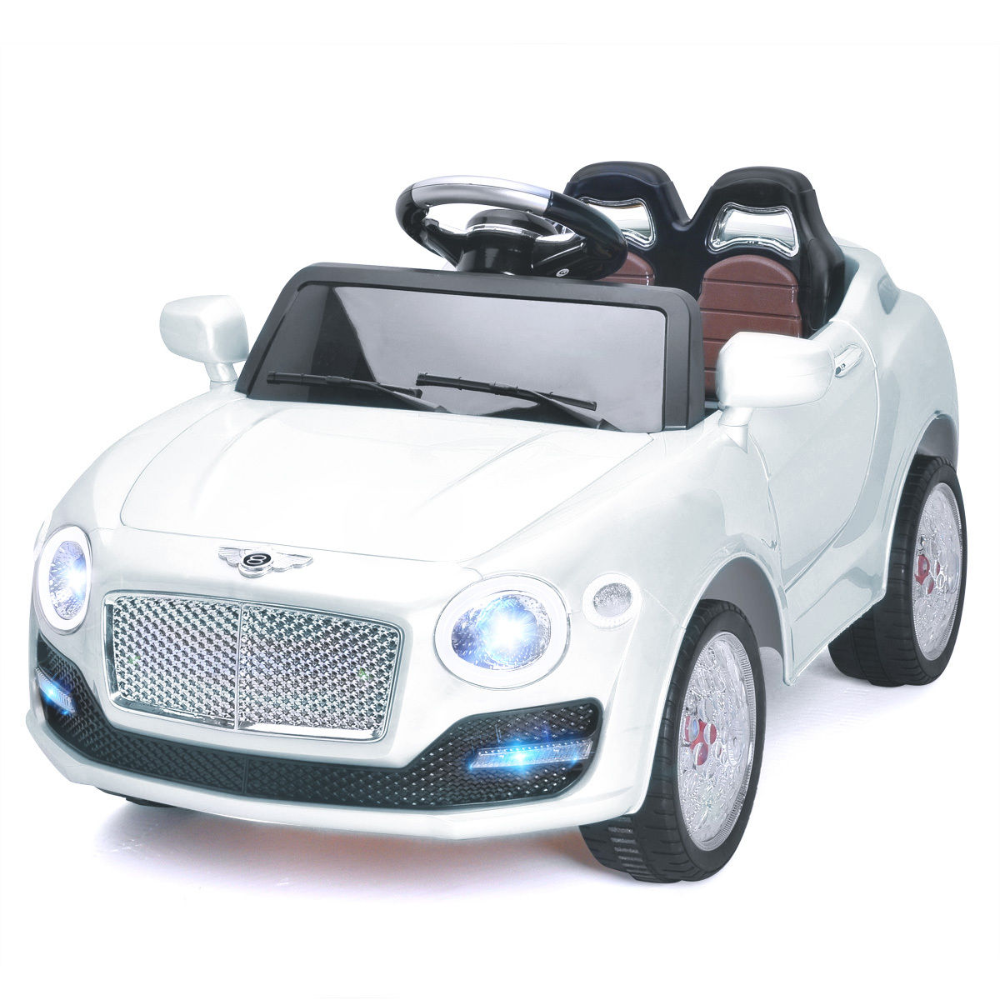 6v Kids Ride On Car Electric Battery Power Rc Remote Control Doors Mp3 White Walmart Com Ride On Toys Kids Ride On Rc Remote