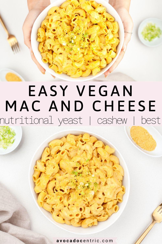 Vegan Mac And Cheese Recipe Easy Gluten Free Avocado Centric Recipe In 2020 Dairy Free Mac And Cheese Vegan Mac And Cheese Vegan Mac N Cheese Recipe