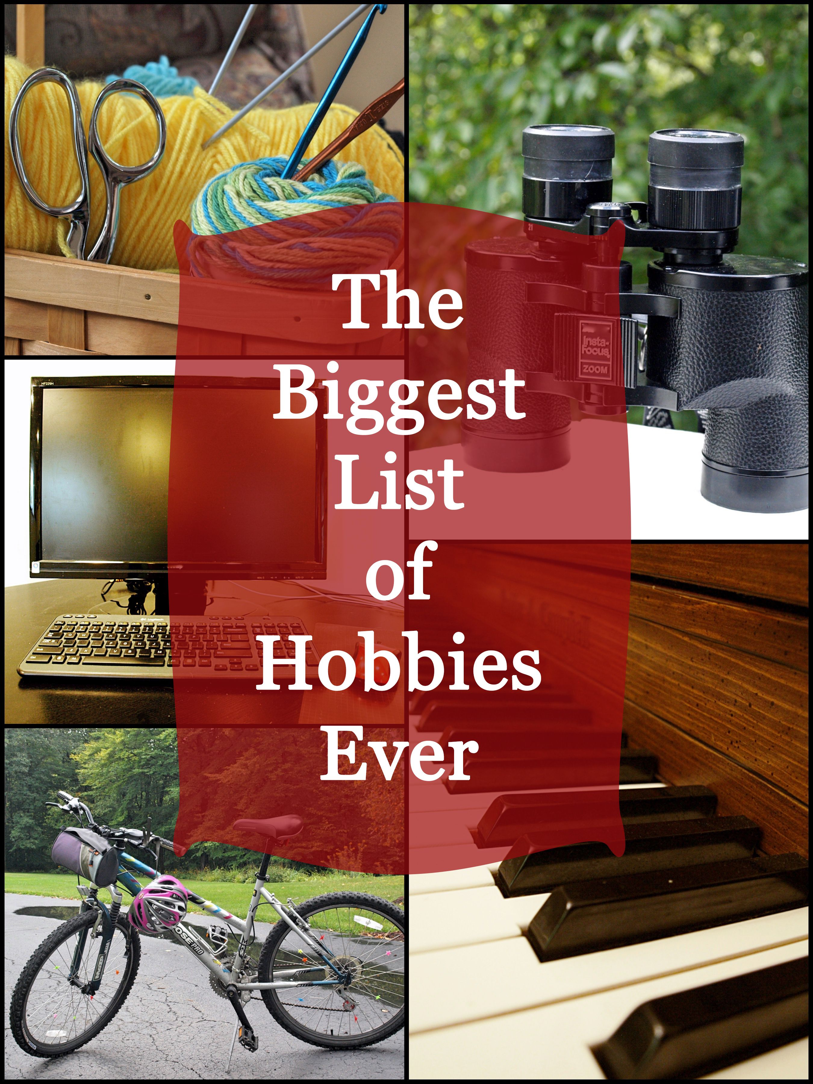 Hobbies, handicrafts: a selection of articles