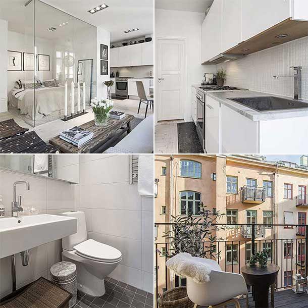Het is altijd leuk om te zien hoe anderen omgaan met een kleine woonruimte dit appartement in - Hoe een vierkante salon te voorzien ...