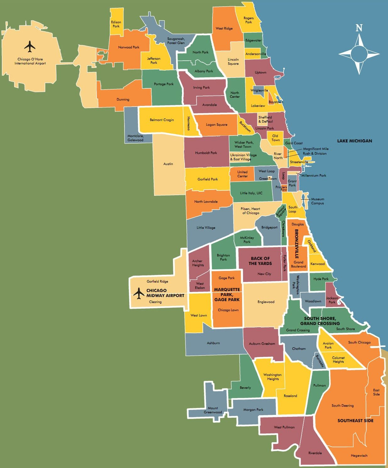 Chicago Neighbourhood Map Places To Go Pinterest Chicago - Chicago flooding map