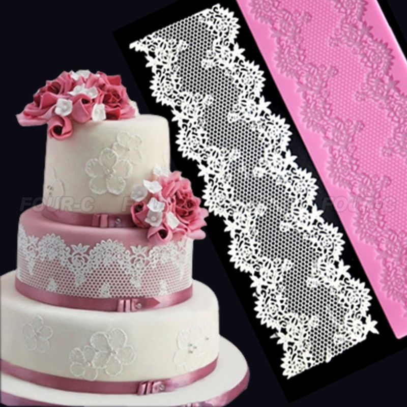 Christmas Cake Decoration Molds : Hot !3D silicone cake lace mat,silicone mold,fondant cake ...