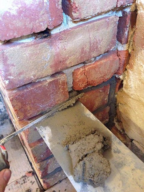 Repointing The Interior Chimney By Oldtownhome Via Flickr Masonry Tools Masonry Home Improvement