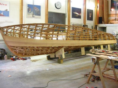 17. PERLITA TOO. Chris at SeaSonic Boats carefully shaping and fitting Perlita's new planks and frames.