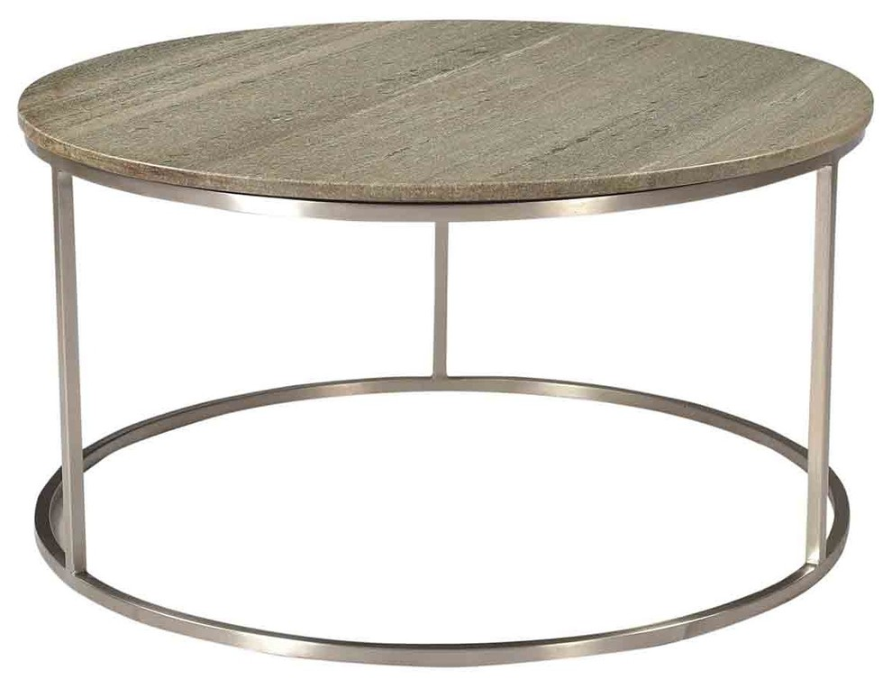 30 Leila Coffee Table Solid Marble Stone Top Grey Polished Steel Base Round Contemporary Coffee Tables By Noble Orig Contemporary Coffee Table Table Furniture