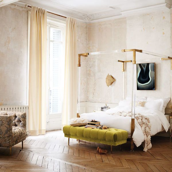 15 surprising decorating ideas from anthropologie 39 s new for Anthropologie bedroom ideas