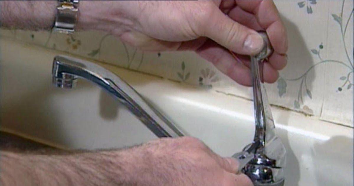faucet handle leaking at base repairing