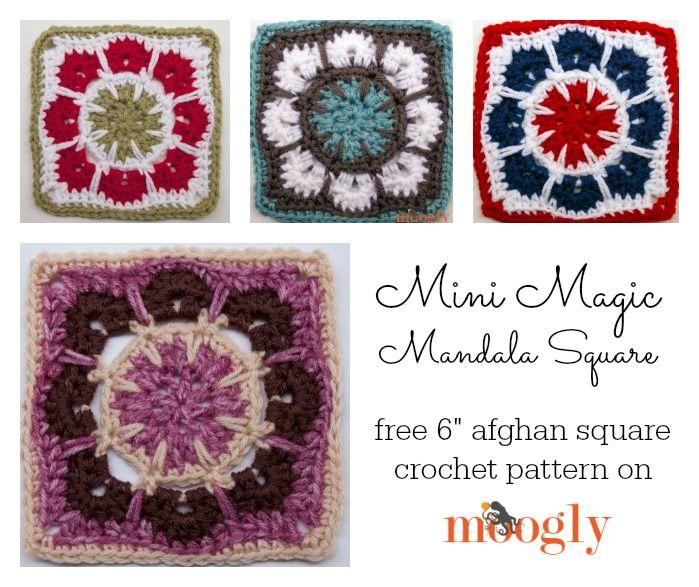 Mini Magic Mandala Square - free 6\