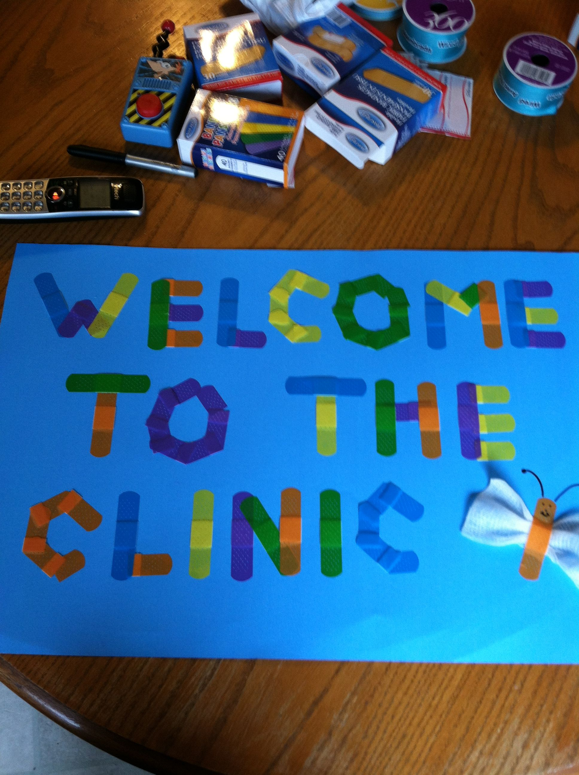 School Clinic Decorations Welcome Sign For My School Clinic My Clinic Pinterest Signs