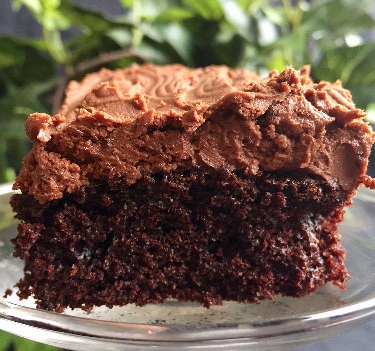 chokladkaka med chokladkräm